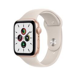 Apple Watch SE GPS 44mm Gold Aluminum Case with Starlight Sport Band (сияющая звезда) MKQ53RU