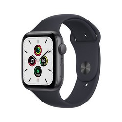 Apple Watch SE GPS 44mm Space Gray Aluminum Case with Midnight Sport Band (тёмная ночь)