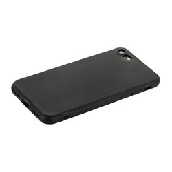Чехол силиконовый для iPhone SE (2020г.)/ 8/ 7 (4.7) уплотненный в техпаке (черный)
