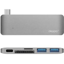 Переходник Deppa D-72219 Type-C 5в1 для MacBook Графитовый