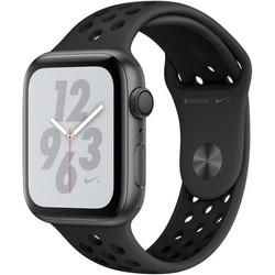 Apple Watch Nike+ Series 4, 44 мм, корпус из алюминия цвета «серый космос», спортивный ремешок Nike антрацитовый/чёрный