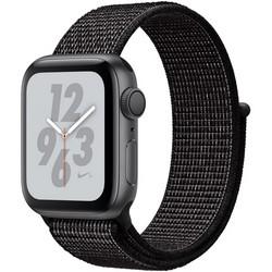 Apple Watch Nike+ Series 4 GPS, 40mm Space Gray Aluminum Case with Black Nike Sport Loop MU7G2