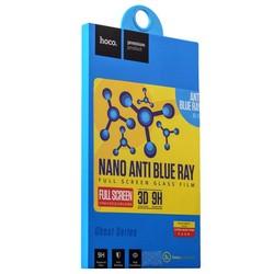 Стекло защитное (карбон) Hoco Full Nano Original Anti-blue ray Glass для iPhone 6s/ 6 (4.7) White