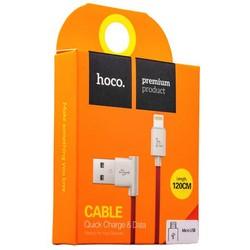 USB дата-кабель Hoco UPM10 L Shape MicroUSB Cable (1.2 м) Красный