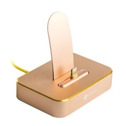 Док-станция COTEetCI Dock1 Lightning Stand Aluminum (MFI) CS5010-CEG для iPhone X/ 8 Plus/ 8/ 7 Plus7/ 6/ SE/ iPod Золотистая