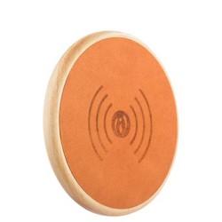 Беспроводное зарядное устройство i-Carer (5-9V-2A) Genuine Leather Fast Wireless charging (NW170F-IYD0005khaki) кожа Хаки