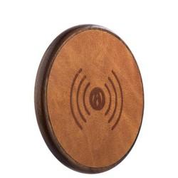 Беспроводное зарядное устройство i-Carer (5-9V-2A) Genuine Leather Fast Wireless charging (NW170F-IYD0005br) кожа Коричневый