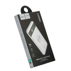 Аккумулятор внешний универсальный & беспроводное зарядное устройство Hoco J11- 10 000 mAh (2USB:5V-2.1A&5V-1.0A) Белый