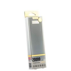 Аккумулятор внешний универсальный Remax PPL 12- 20000 mAh Box power bank (2USB: 5V-2.0A&5V-1.0A) Black Черный