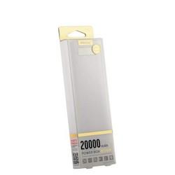 Аккумулятор внешний универсальный Remax PPL 12- 20000 mAh Box power bank (2USB: 5V-2.0A&5V-1.0A) White Белый