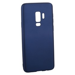 Чехол-накладка Deppa Case Silk TPU Soft touch D-89003 для Samsung GALAXY S9+ SM-G965F 1мм Синий металик