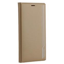"""Чехол-книжка кожаный Peacocktion для iPhone XS Max (6.5"""") Royal Series (ZGIIP9GLD) Золотистый"""
