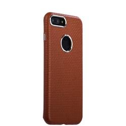 Накладка кожаная i-Carer для iPhone 8 Plus/ 7 Plus (5.5) Transformer Real Leather Woven Pattern Back Cove (RIP7010br) Коричн.