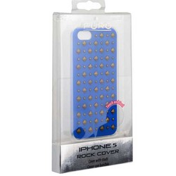 Накладка пластиковая Puro Rock 2 для iPhone SE/ 5S/ 5 IPC5ROCK2BLUE - Синяя