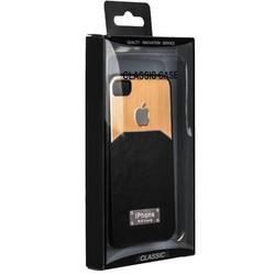 Чехол-накладка с яблоком для iPhone 4S/ 4 черная