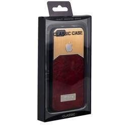 Чехол-накладка с яблоком для iPhone 4S/ 4 коричневая
