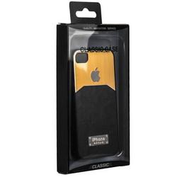 Чехол-накладка с яблоком для iPhone 4S/ 4 темно-серая