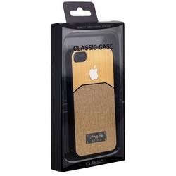 Чехол-накладка с яблоком для iPhone 4S/ 4 золотая