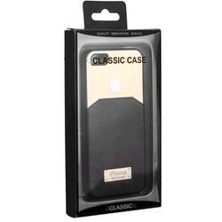 Чехол-накладка с яблоком для iPhone SE/ 5S/ 5 темно-серая