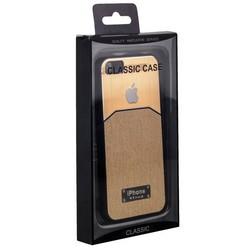 Чехол-накладка с яблоком для iPhone SE/ 5S/ 5 золотая