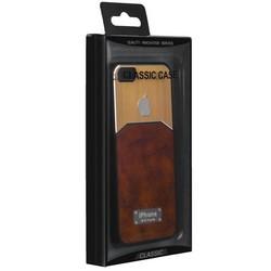 Чехол-накладка с яблоком для iPhone SE/ 5S/ 5 светло-коричневая