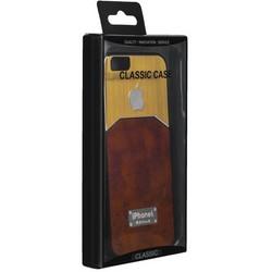Чехол-накладка с яблоком для iPhone 6s/ 6 (4.7) светло-коричневая