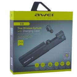 Bluetooth-гарнитура AWEI T8 True Wireless Earbuds стерео с зарядным устройством Черный