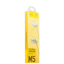 Наушники Hoco M5 Colorful Conch Universal Earphone Aviation Aluminum (1.2 м) с микрофоном Золотистые