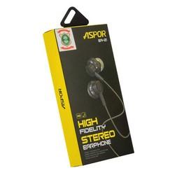 Наушники Aspor EA-21 High Fidelity Stereo Earphone с микрофоном Черные