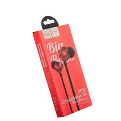 Наушники Hoco M32 Contented wave Universal Earphones with mic (1.2 м) с микрофоном Red Красные