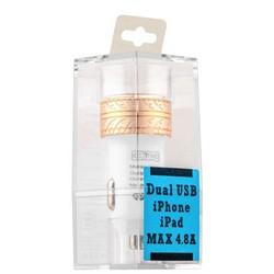 Разделитель автомобильный COTEetCI X3 Flash Shield Series Dual USB для Apple&Android (4.8A) CS2014-CG Золотистый
