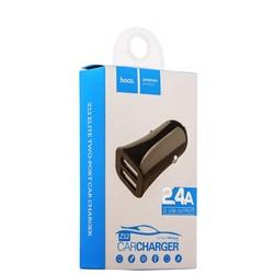 Разделитель автомобильный Hoco Z12 Elite Dual USB Car Charger для Apple&Android (2USB: 5V & 2.4A) Черный