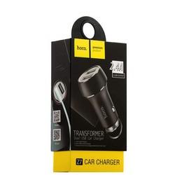 Разделитель автомобильный Hoco Z7 Kingkong dual USB Car Charger Apple&Android (2USB: 5V & 2.4A) Черный