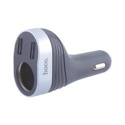 Разделитель автомобильный Hoco Z29 Regal digital display cigarette lighter car charger (2USB: 5V & 2.4A) Черный