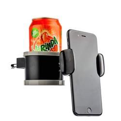 Автомобильный держатель COTEetCI ST-07 для смартфонов&soft drink (ST3107-BK) универсальный в решетку (ширина 100mm) Черный