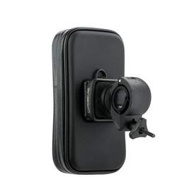 """Веломотодержатель Prime Line 5505 (для смартфонов и GPS 3.8""""-4.7"""") крепление на руль Графитовый"""