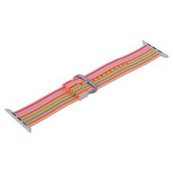 Ремешок COTEetCI W30 Nylon Rainbow Band (WH5251-WP-42) для Apple Watch 44мм/ 42мм Бело-Розовый
