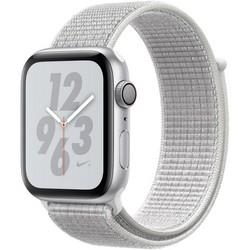 Apple Watch Series 4 44mm Nike+ GPS Silver Aluminum Case with Summit White Nike Sport Loop MU7H2