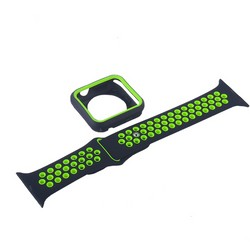 Ремешок спортивный COTEetCI W32 Sports Band Suit (WH5255-BK+YL-42) для Apple Watch 42мм Черно-Зеленый