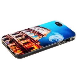 Чехол-накладка UV-print для iPhone SE/ 5S/ 5 силикон (города и страны) тип 27