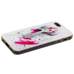 Чехол-накладка UV-print для iPhone SE/ 5S/ 5 силикон (арт) тип 004
