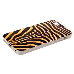 Чехол-накладка UV-print для iPhone SE/ 5S/ 5 силикон (шкурки животных) тип 25