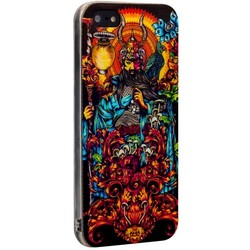 Чехол-накладка UV-print для iPhone SE/ 5S/ 5 силикон (арт) тип 58