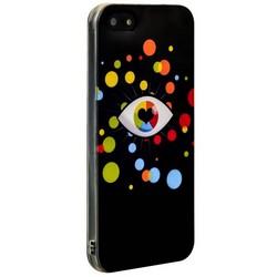 Чехол-накладка UV-print для iPhone SE/ 5S/ 5 силикон (арт) тип 09