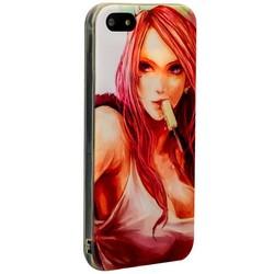 Чехол-накладка UV-print для iPhone SE/ 5S/ 5 силикон (18+) тип 002