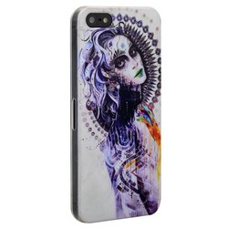 Чехол-накладка UV-print для iPhone SE/ 5S/ 5 пластик (арт) тип 152