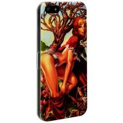 Чехол-накладка UV-print для iPhone SE/ 5S/ 5 пластик (18+) тип 005