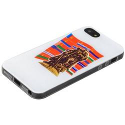 Чехол-накладка UV-print для iPhone SE/ 5S/ 5 силикон (праздники) тип 003