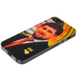 Чехол-накладка UV-print для iPhone SE/ 5S/ 5 силикон (тренд) Рамзан Кадыров тип 003
