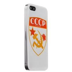 Чехол-накладка UV-print для iPhone SE/ 5S/ 5 пластик (арт) СССР тип 001